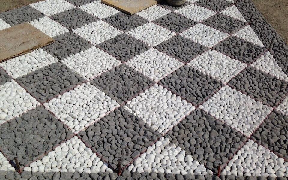 Pavimenti in pietra per esterni decorazione villa privata